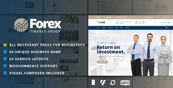 Forex – Business & Financial WordPress Theme