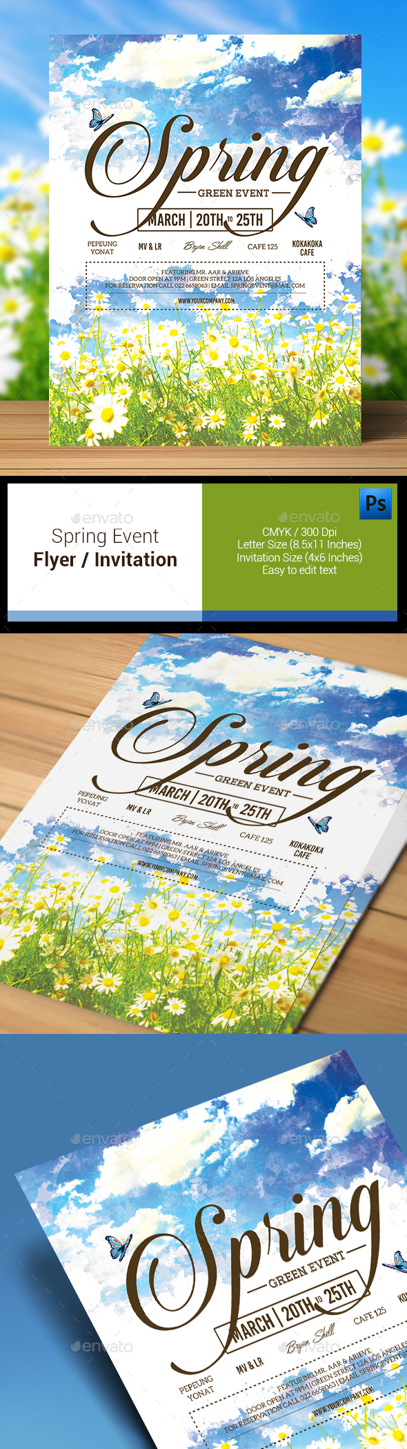 Spring Event Flyer / Invitation - Clubs & Parties Events