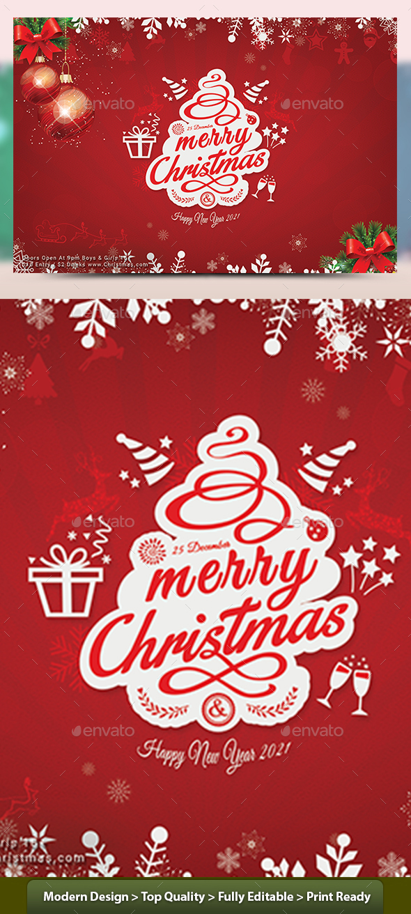Christmas Flyer Templates By Graphicshaper Graphicriver