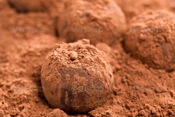 chocolate truffles - Stock Photo - Images