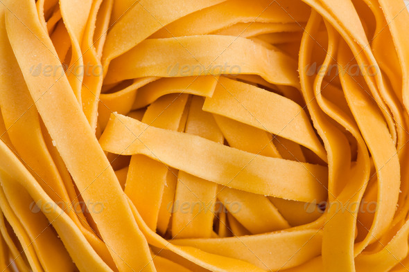 macro shot of pasta tagliatelle - Stock Photo - Images