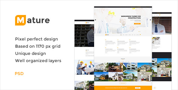 Mature — Building & Construction PSD Template