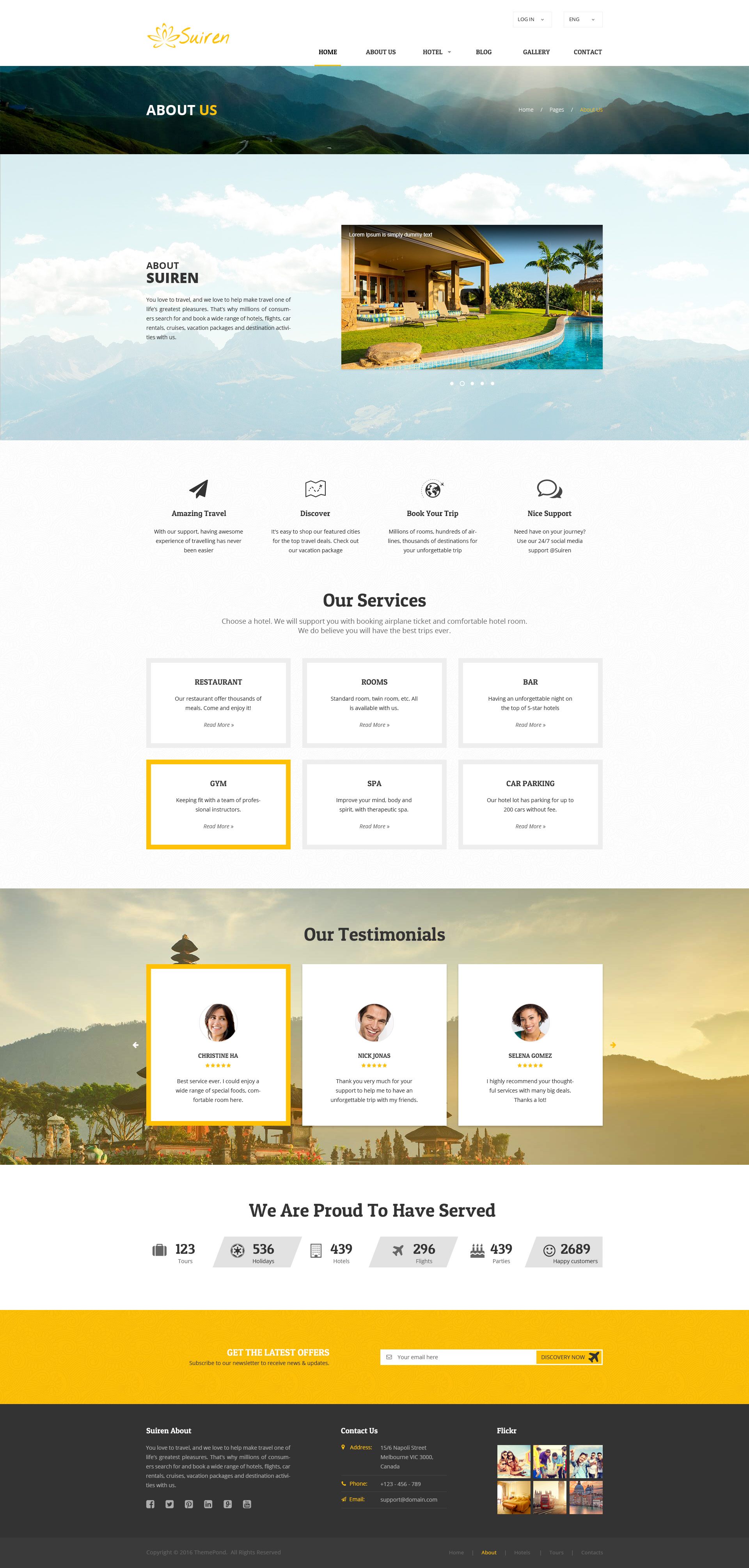 Suiren Travel Tour And Booking Agency Html Template By