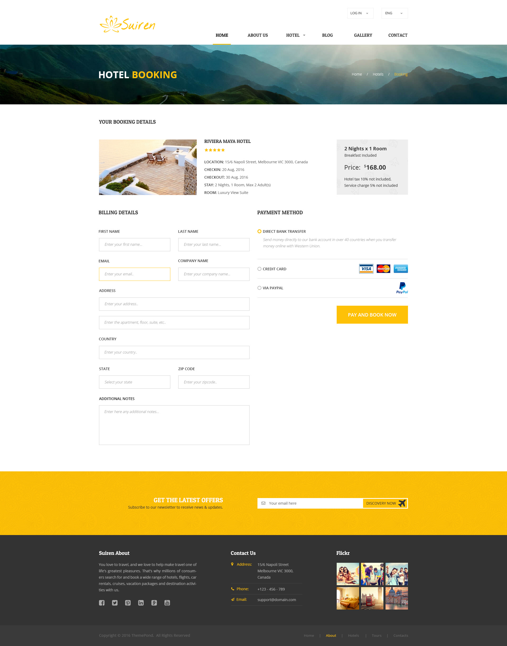 Suiren Travel Tour And Booking Agency Html Template By Themespond