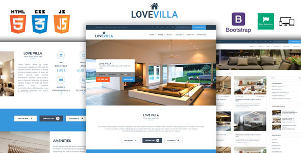 LoveVilla – Single Property HTML Template