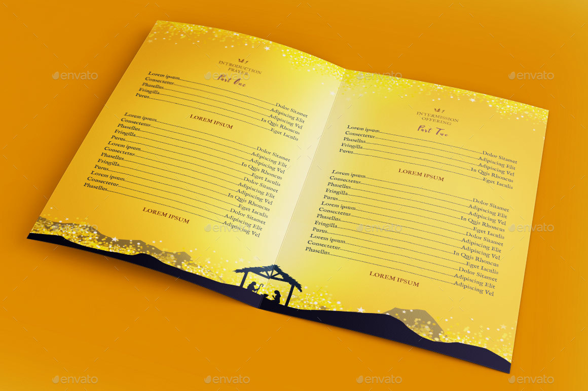 Emmanuel Christmas Cantata Program Template by Godserv   GraphicRiver