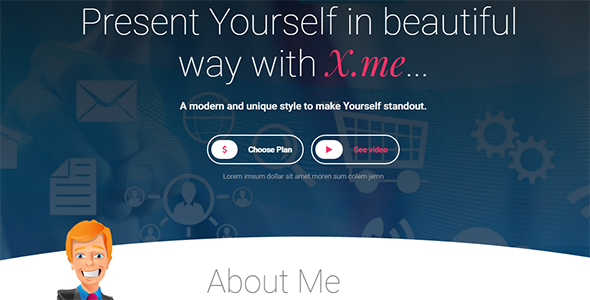 XdotMe – Personal Portfolio Template