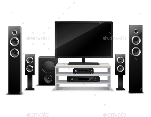Realistic Home Theater Concept - Technology Conceptual