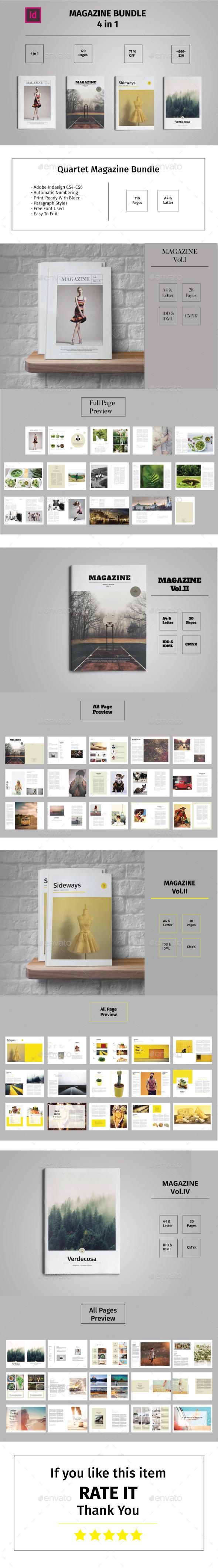 Quartet Magazine Bundle - Magazines Print Templates