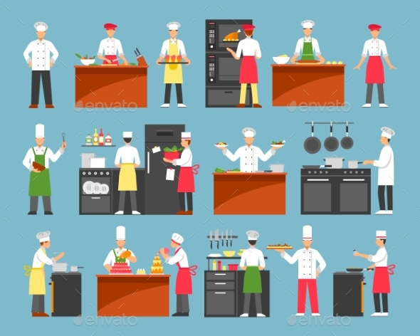 Professional Cooking Decorative Icons Set - Decorative Symbols Decorative