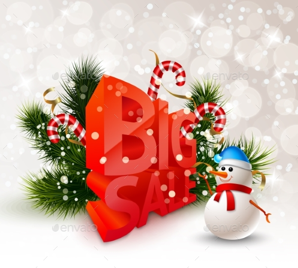 Festive Winter Big Sale Poster - Commercial / Shopping Conceptual