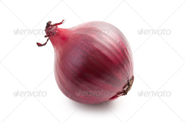 red onion on white - Stock Photo - Images
