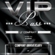 Multipurpose VIP Pass Invitation - GraphicRiver Item for Sale