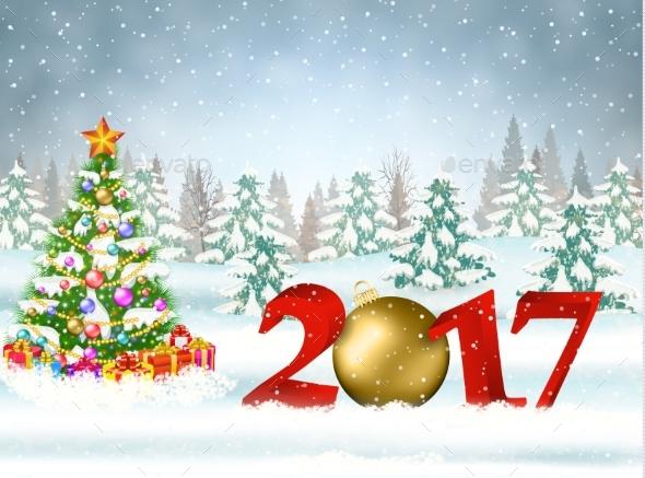 Christmas Card with Ball - Christmas Seasons/Holidays