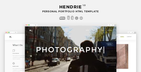 Hendrie – Personal Portfolio HTML Template