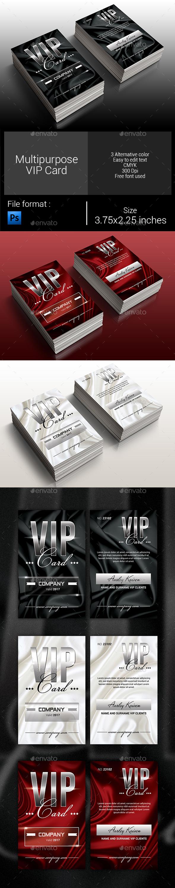 Multipurpose Elegant Vip Card - Loyalty Cards Cards & Invites