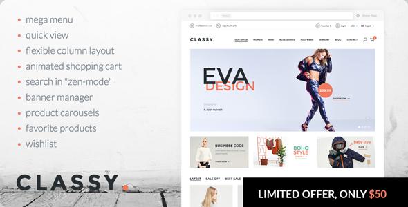 Classy - elegant, modern PrestaShop theme - PrestaShop eCommerce