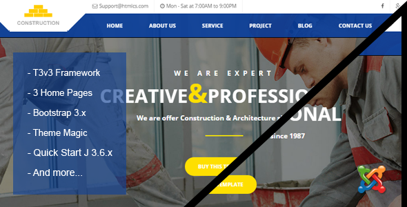 Construction & Building Business Joomla Theme
