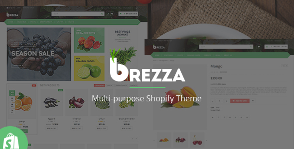 Brezza Fruit Store – Shopify Responsive Theme