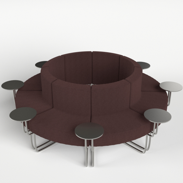 Lobby Circular Couch - 3DOcean Item for Sale