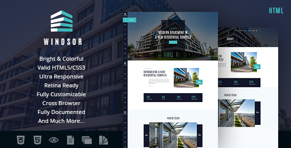 Windsor | Apartment Complex / Single Property Site Template - Business Corporate
