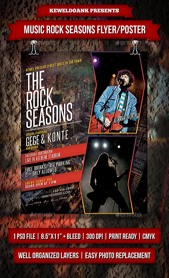 Music Rock Seasons Flyer / Poster - Events Flyers