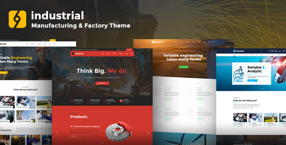 Industrial - Manufacturing & Factory WordPress Theme