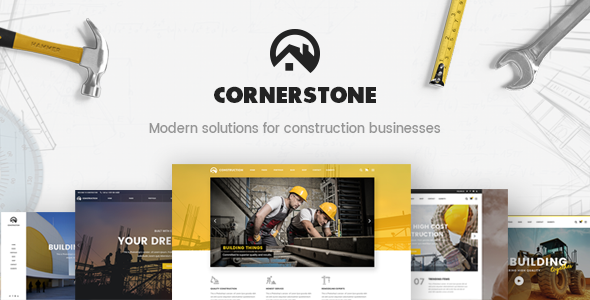 Cornerstone - A Professional Construction, Builder & Contractor Theme - Business Corporate