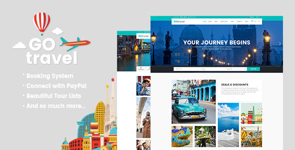 GoTravel – A Travel Agency & Tourism Theme