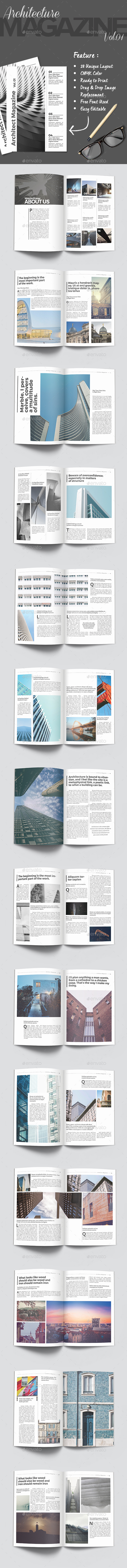 Architecture Magazine Vol.01 - Magazines Print Templates