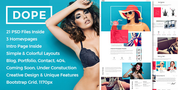 Dope – Creative Photography Portfolio HTML5 Template