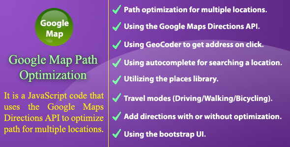 Google Map Path Optimization - CodeCanyon Item for Sale
