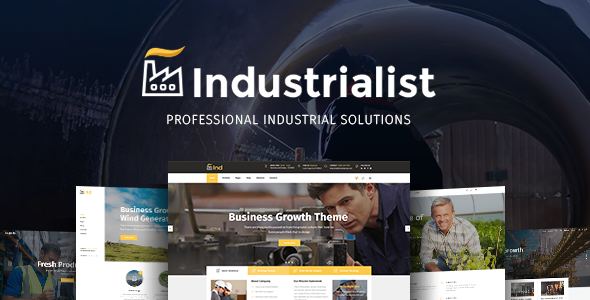 Industrialist - An Expert Theme for Industry and Manufacturing Businesses