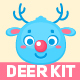 Deer Character Faces Construction Kit - GraphicRiver Item for Sale