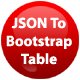 JSON To Bootstrap Table - jQuery Plugin
