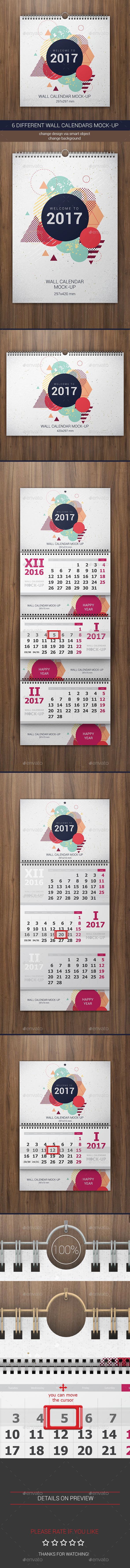 Wall Calendars Mock-Up - Miscellaneous Print