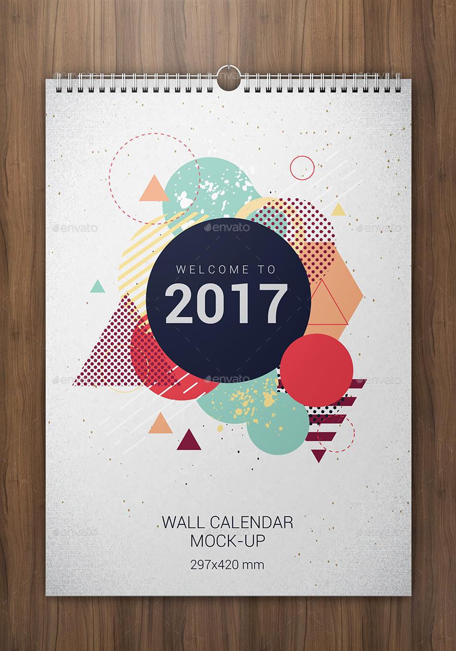 wall calendars mock