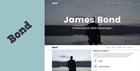 Bond – Creative Portfolio Template - Site Templates