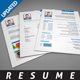 Clean Resume Template 1 - GraphicRiver Item for Sale