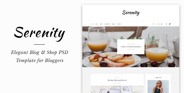 Serenity Blog & Shop PSD Template