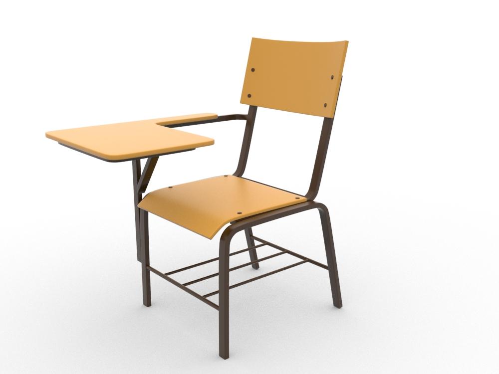 school chair by teddpermana 3docean. Black Bedroom Furniture Sets. Home Design Ideas