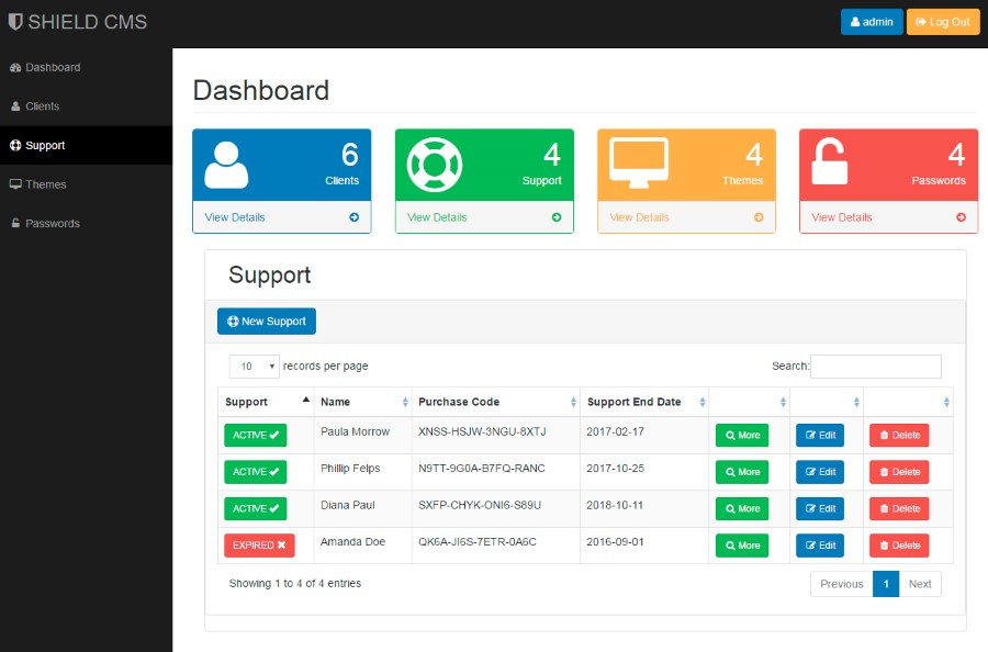 Shield Freelancer Content Management System By Ezcode Codecanyon