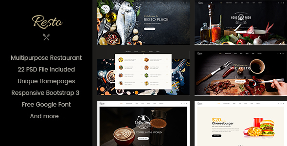 Resto – Multipurpose Restaurant & Cafe Joomla Template