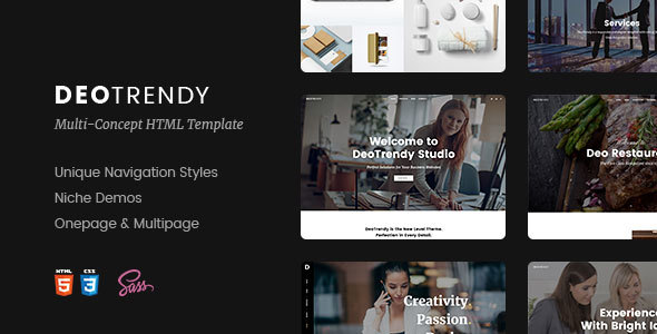 DeoTrendy | Multi-concept Creative HTML5 Template