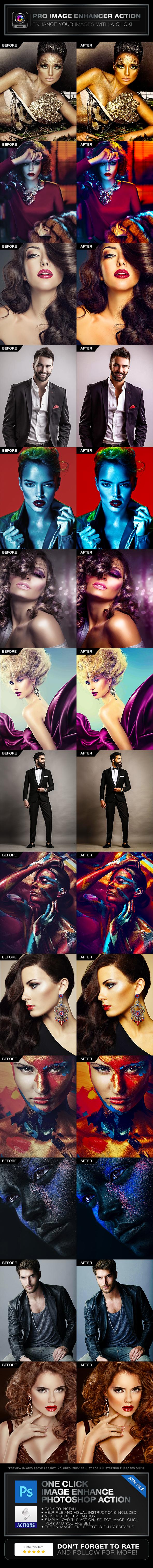 Pro Image Enhancer Photoshop Action - Photo Effects Actions