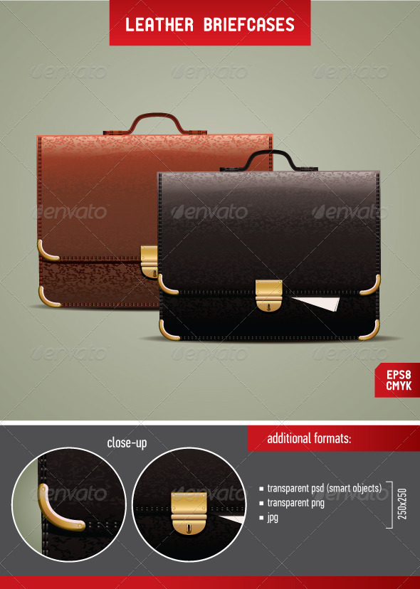 Leather Briefcases - Man-made Objects Objects