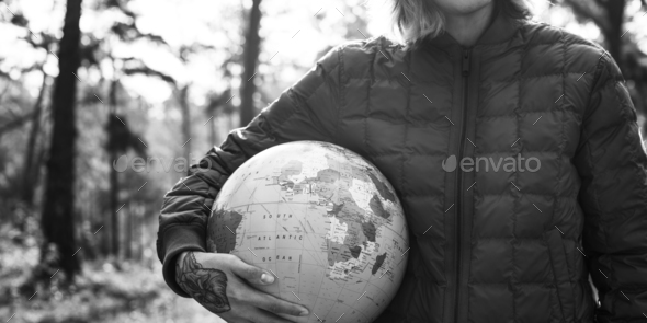 Globe Global Sphere World Cartography Earth Concept - Stock Photo - Images