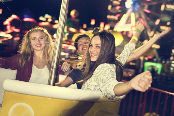 Amusement Carnival Theme Park Funfair Festival Concept - Stock Photo - Images