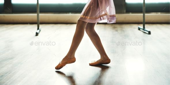 Ballerina Dancing Ballet School Concept - Stock Photo - Images
