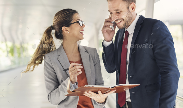 Business People Discussion Mobile Phone Telecommunication Concep - Stock Photo - Images